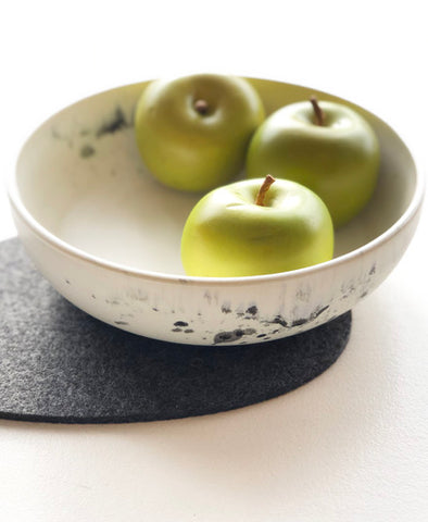 Squid Ink Ceramic Serving Bowls