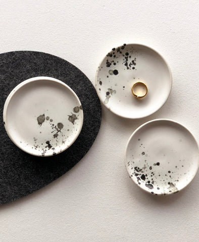 Squid Ink Ceramic Ring Dish