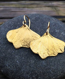 Bronze Gingko Leaf Earrings