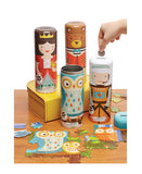 Tin Canister Coin Banks & Puzzles
