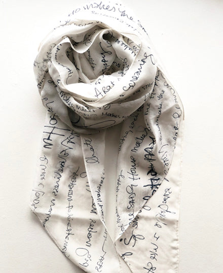 'what makes you happy' silk scarf