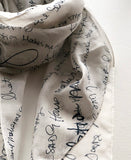 detail silk scarf
