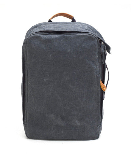 washed black backpack