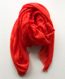 signature red scarf