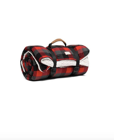 Blanket, Sherpa Buffalo Plaid Throw