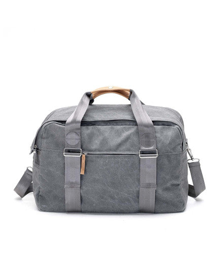 washed grey weekender bag