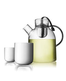 Norm Glass Kettle Teapot & Double Walled Cups