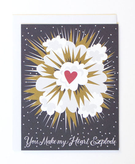 Greeting Card, Heart Explosion
