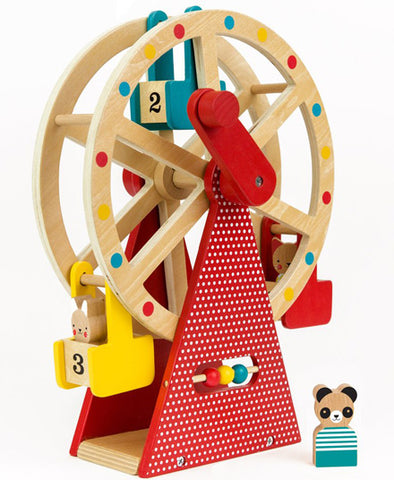 Wooden Ferris Wheel Carnival Play Set