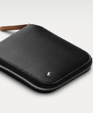Wallet, Zip in Black