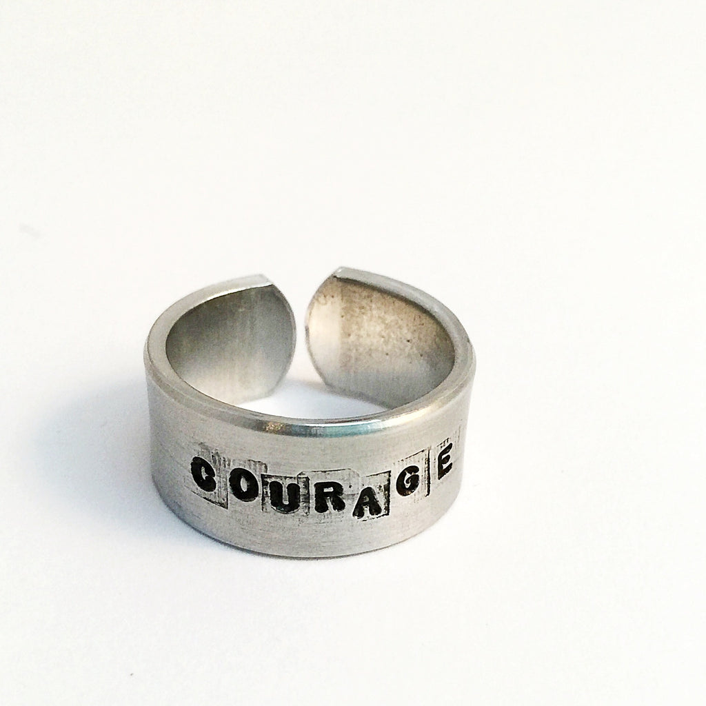 courage ring. (strength + confidence)