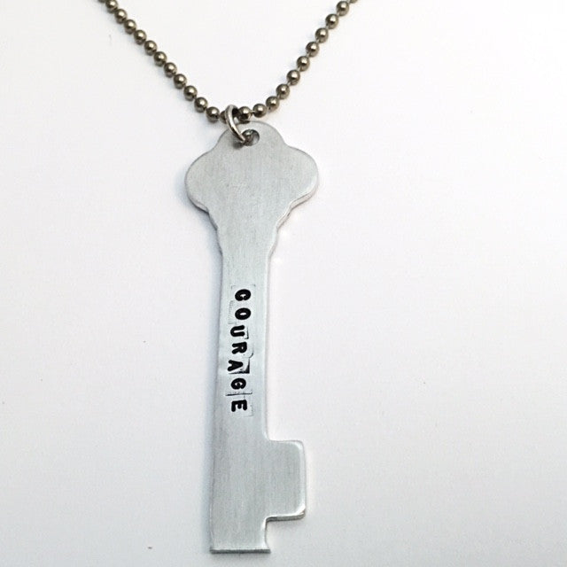 courage key necklace. (strength + confidence)