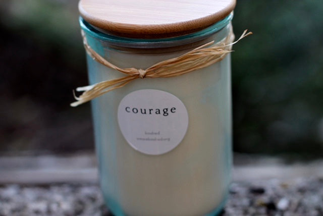 courage candle. (ginger + cardamom)