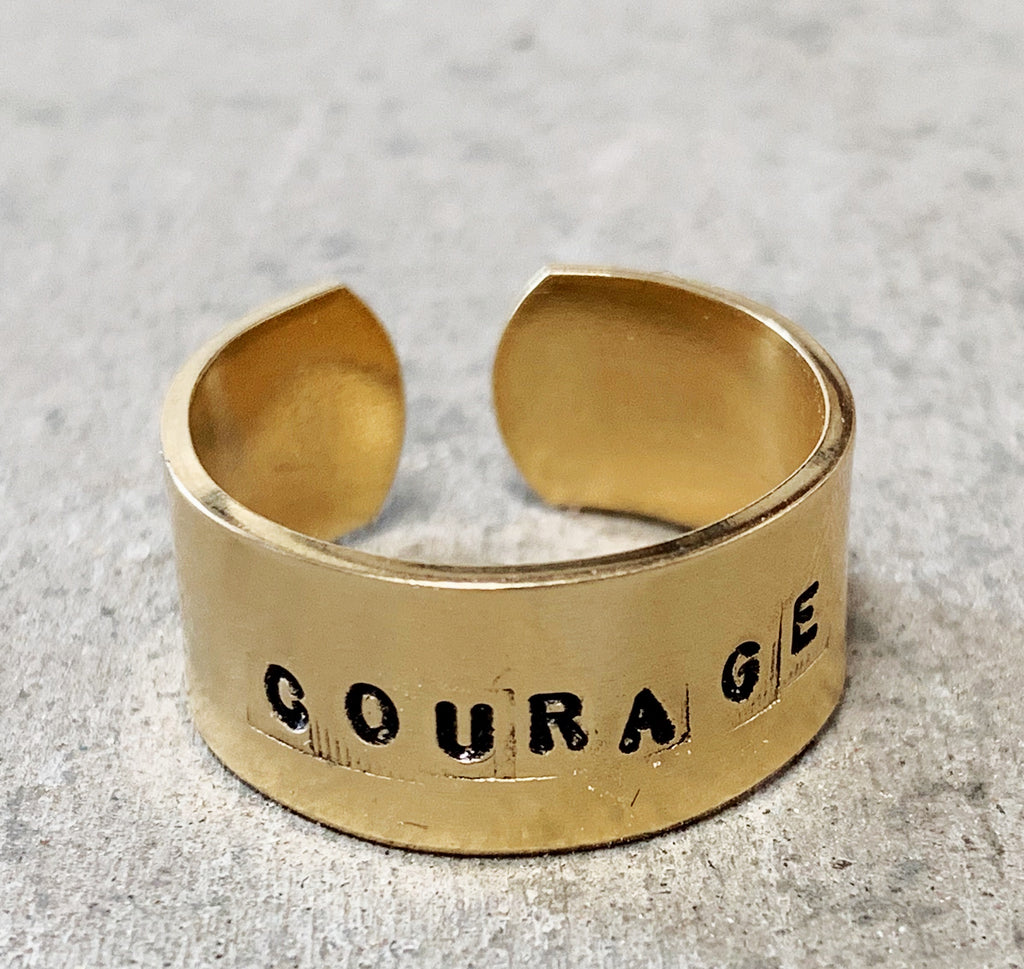 courage ring in brass (strength + confidence)