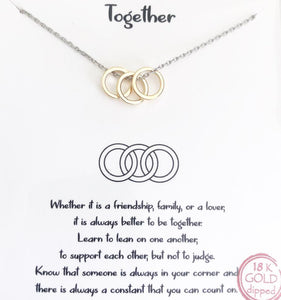 Silver + Gold Together Necklace