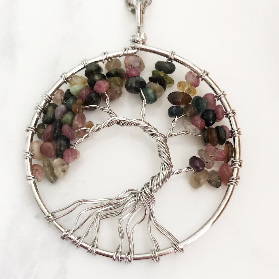 Tourmaline Tree of Life Necklace