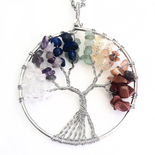 Rainbow Tree of Life Necklace
