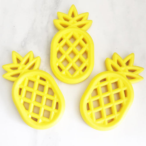 Yellow Pineapple Silicone Teether