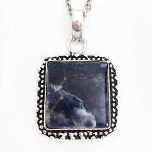 Silver Sodalite Necklace