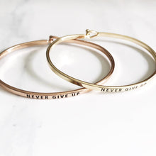Load image into Gallery viewer, Never Give Up Hook Bangle Bracelets