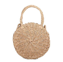 Load image into Gallery viewer, Woven Straw Round Shoulder Bag
