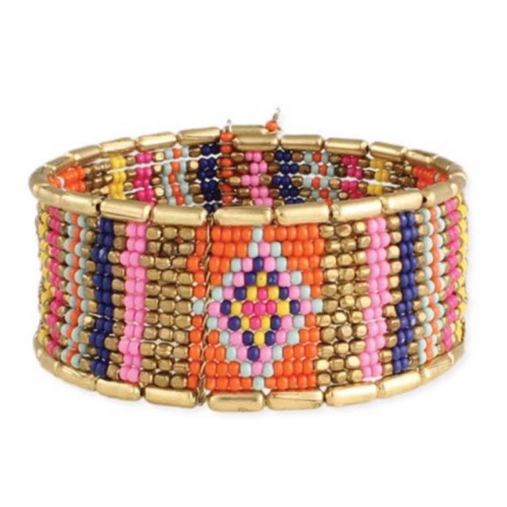 Bright + Gold Adjustable Cuff Bracelet