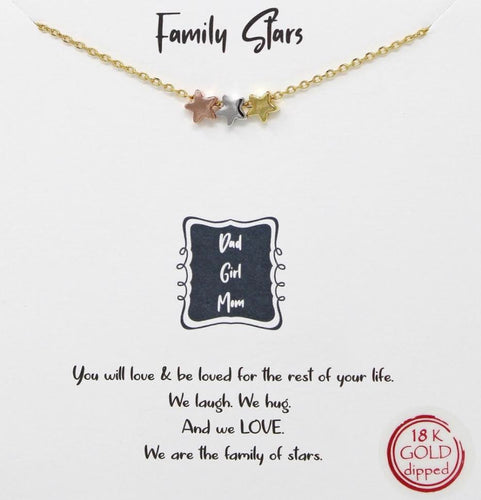 Gold Family Stars Necklace