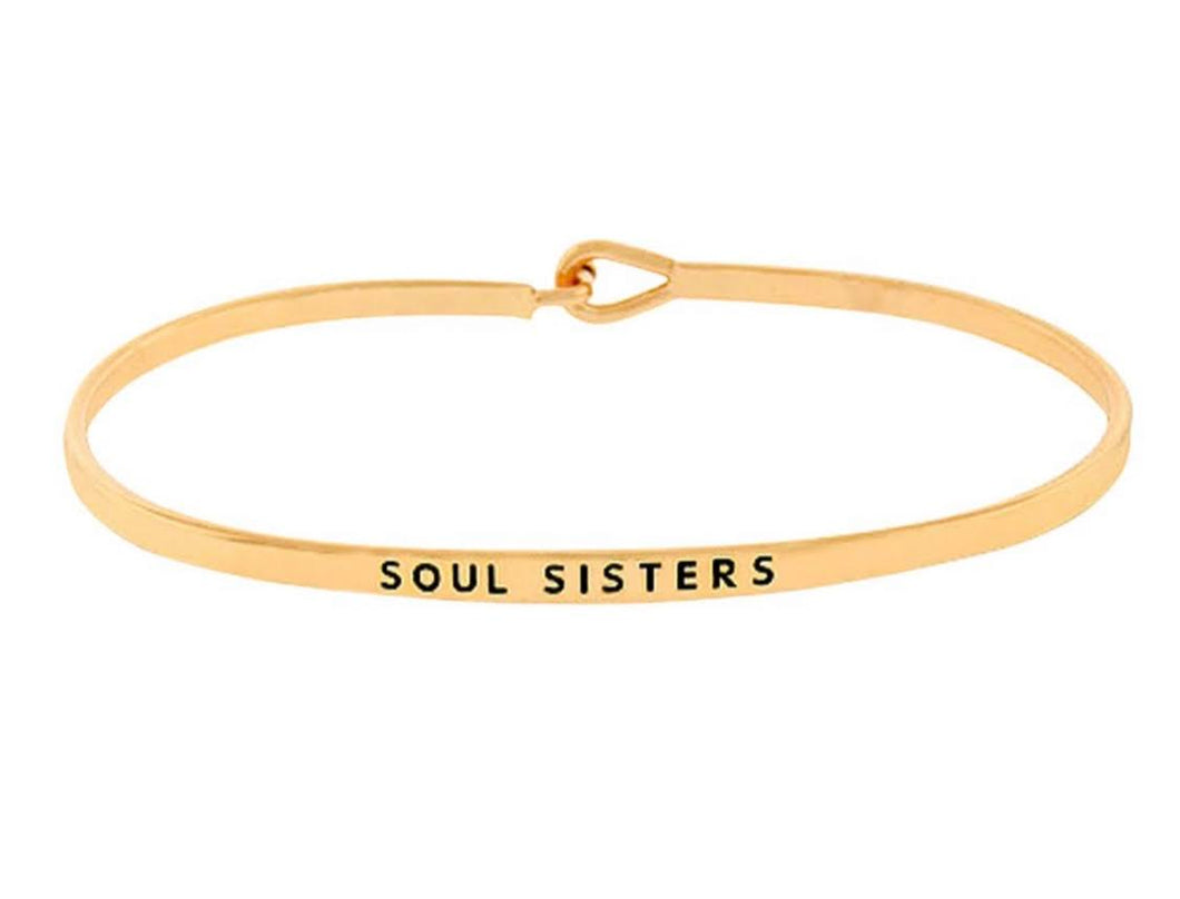 Gold Soul Sisters Hook Bangle Bracelets