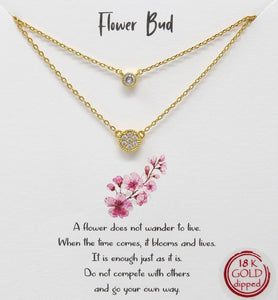 Gold Flower Bud Necklace