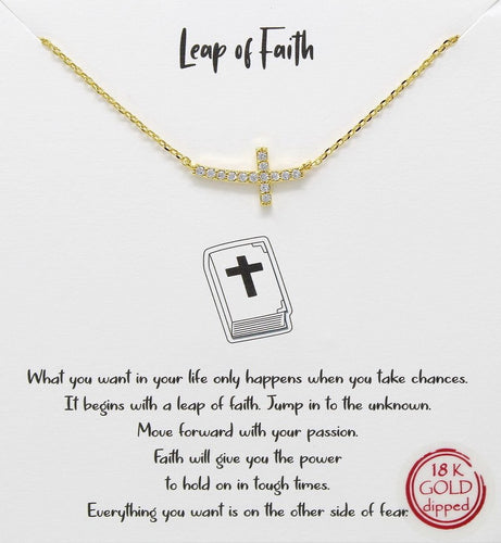 Gold Leap of Faith Necklace