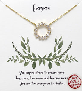 Gold Evergreen Necklace