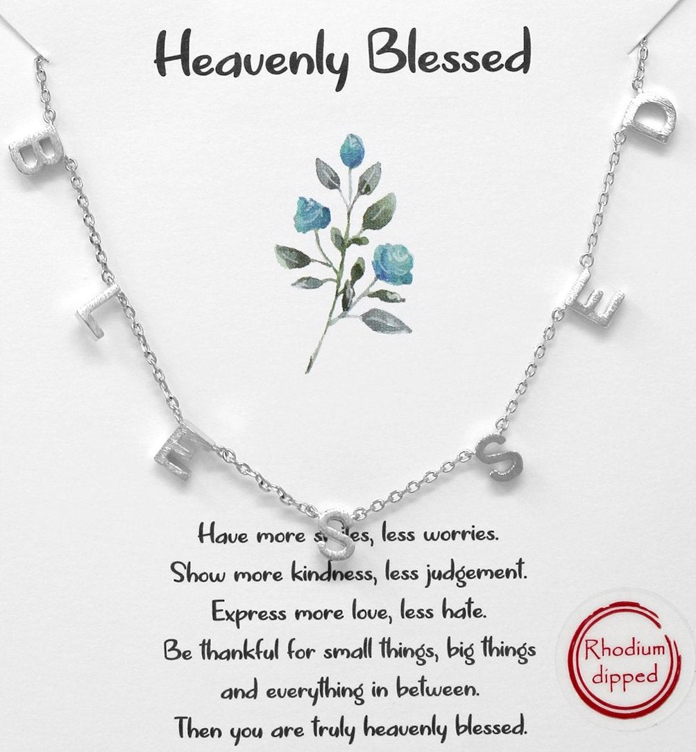 Silver Heavenly Blessed Necklace