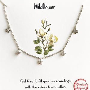 Silver Wildflower Necklace