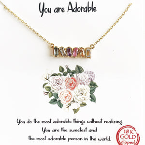 Gold You are Adorable Necklace