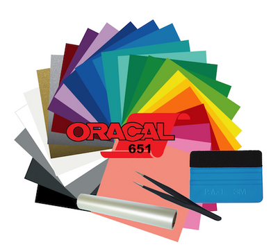 Oracal 651- 25 Color Starter Pack with Tools