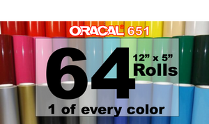 Oracal 651 One of every Color Rolls