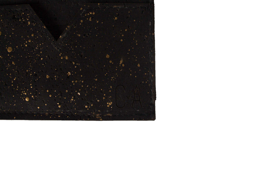 Gold Splatter 3 Pocket Card Wallet