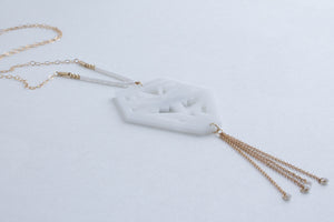 White Kindred Carving Necklace