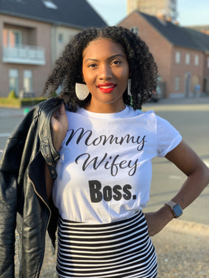 Wifey Mommy Boss T Shirt