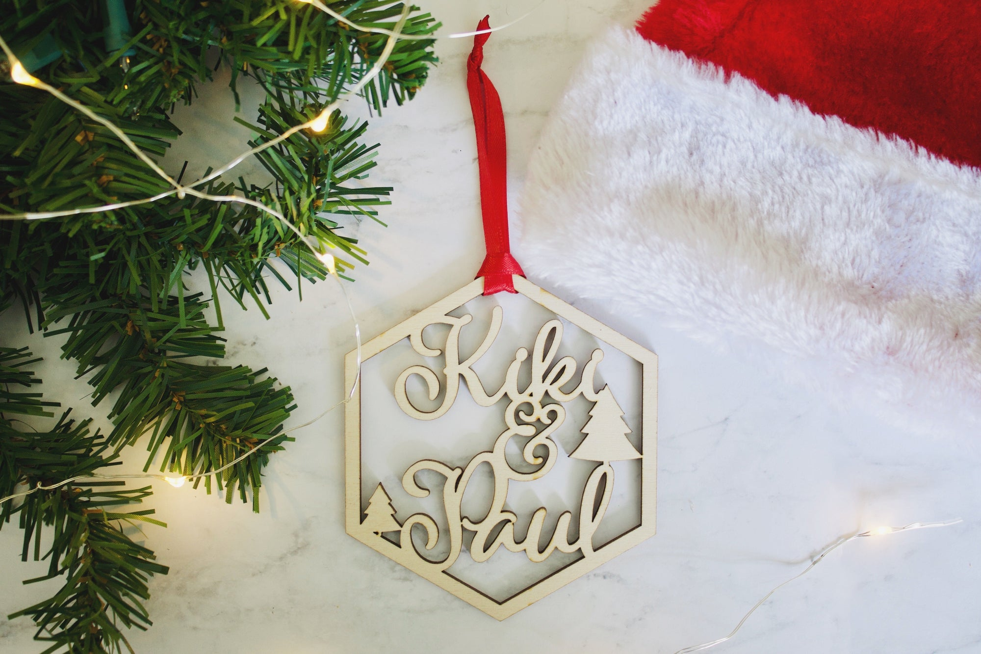 Couple's Name Ornament
