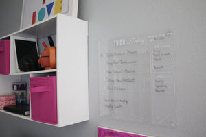 Acrylic To Do List dry erase board