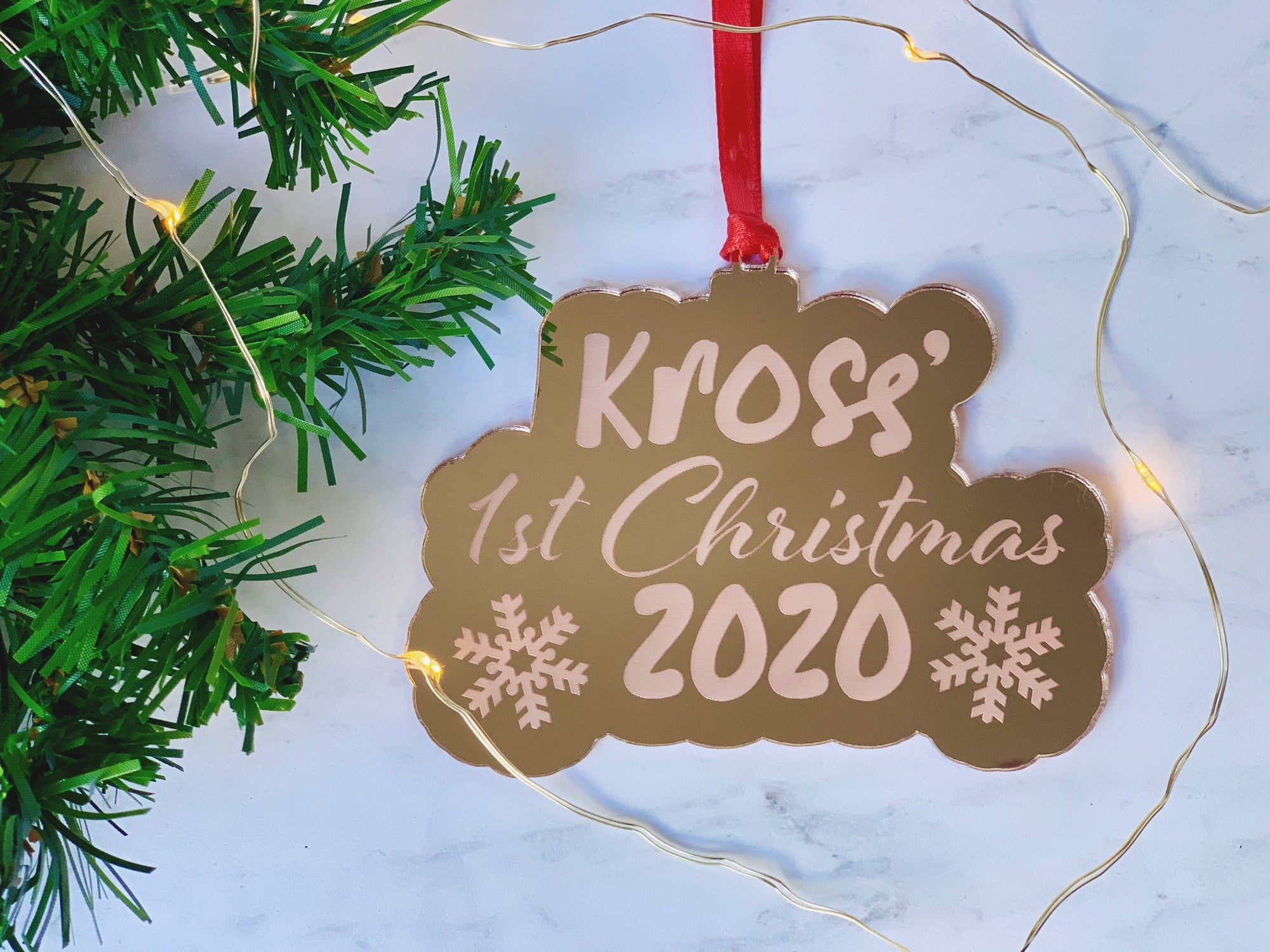 Personalized Engraved Baby's First Christmas Ornament