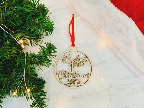 """Baby's First Christmas"" Ornament"