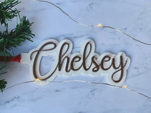 Personalized 2-Layer Name Ornament