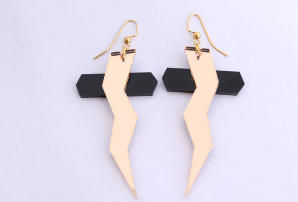 Storm Cross Earrings