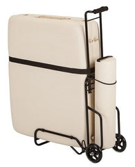 Massage Table Cart. Give you back a break!!! Let our table cart do carrying for you!! Fits MOST portable tables.  Folds up compactly.  It is an essential for out calls. Folds up compactly!!!!