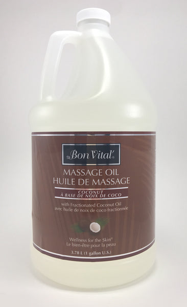 Bon Vital Fractionated Coconut Oil Bon Vital coconut massage is  100% pure Fractionated Coconut Oil!  A rich consistency with a tremendous glide. Great for blending with your favorite essential oils. Leaves no greasy feel. Completely Unscented.  Wellness for the skin  100% Pure & Natural Caprylic/Capric Triglyceride (Fractionated Coconut Oil)