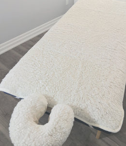 Fleece Table Pad Set Add extra softness to your table.  Helps keep clients warm.  Will fit standard massage tables up to 32""