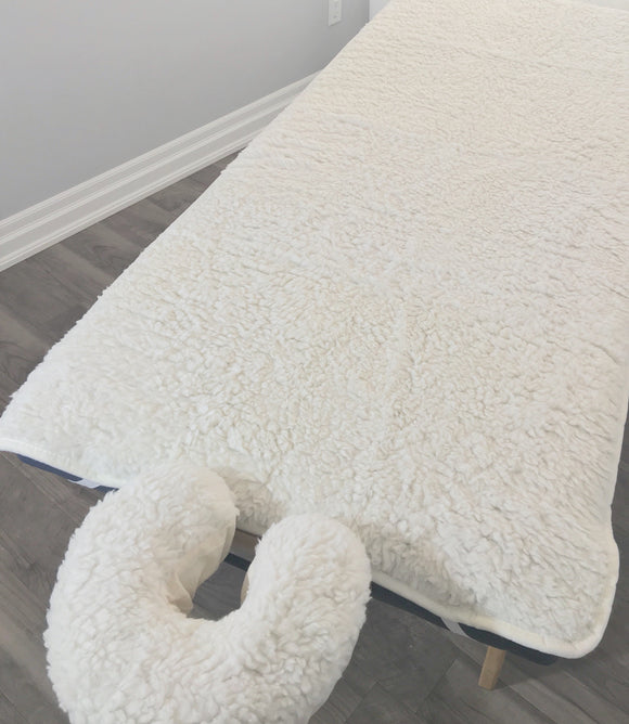 Fleece Table Pad Set Add extra softness to your table.  Helps keep clients warm.  Will fit standard massage tables up to 32