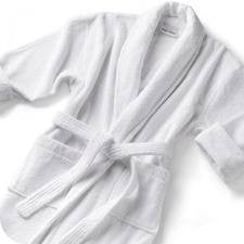 Our microfibre bath robe is soft and cozy.  Perfect for the spa or for at home use.  Our one size fits all will keep you covered and warm.
